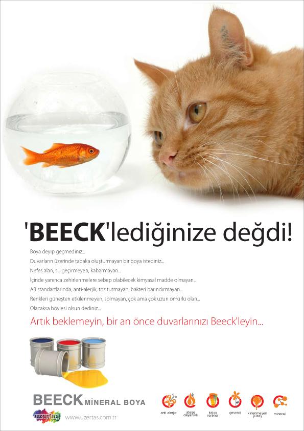 Beeck lansman ilanları tasarımı