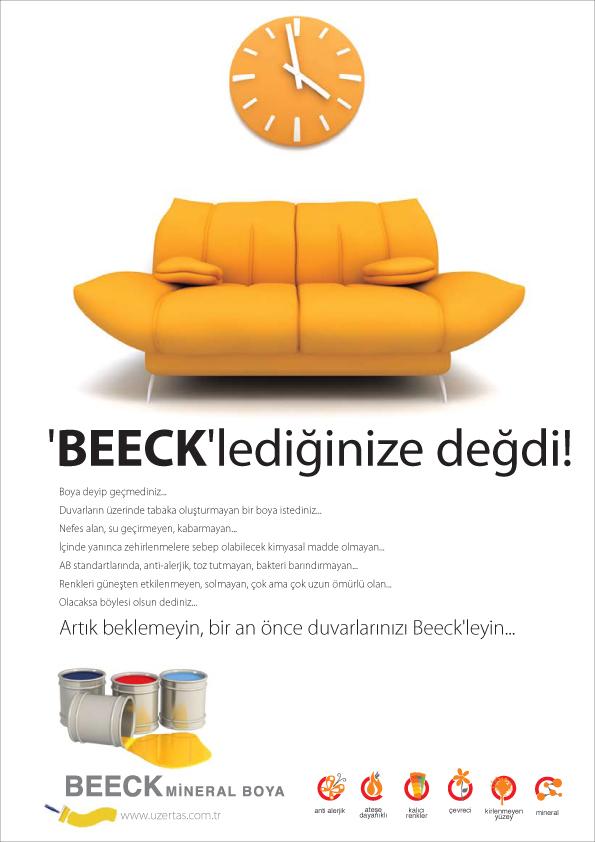 Beeck seri ilan tasarımı
