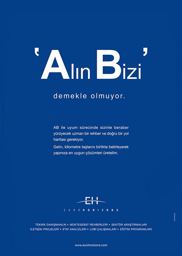 Eurohorizons dergi ilan tasarımı