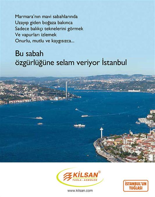 Kilsan İstanbul'un Kurtuluşu ilanı
