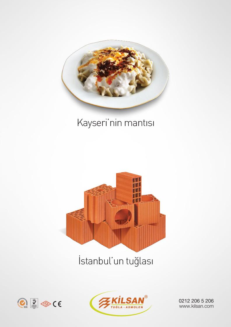 Kilsan – İstanbul'un tuğlası konsept ilan tasarımları