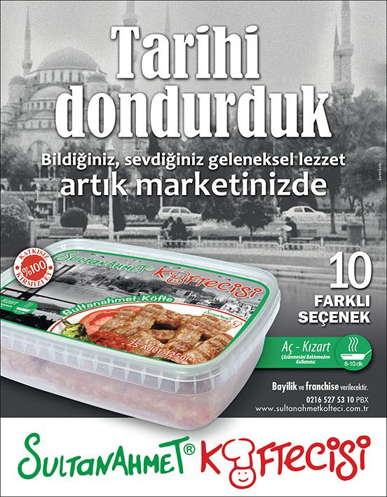 Sultanahmet Köftecisi yeni ürün lansman ilan tasarımı
