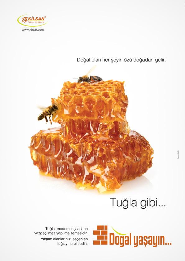 Tuğla doğaldır reklam kampanyası dergi ilan tasarımı