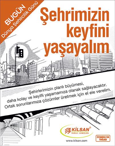 Kilsan Dünya Şehircilik Günü ilanı